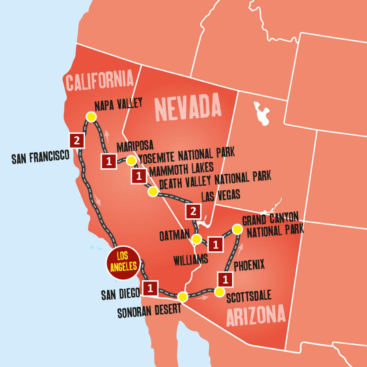 Us Holidays West Coast Coach Tours Expat Explore Travel