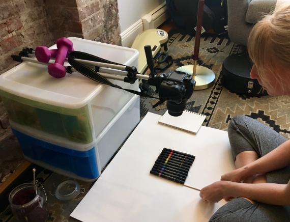 DIY-overhead-camera-setup