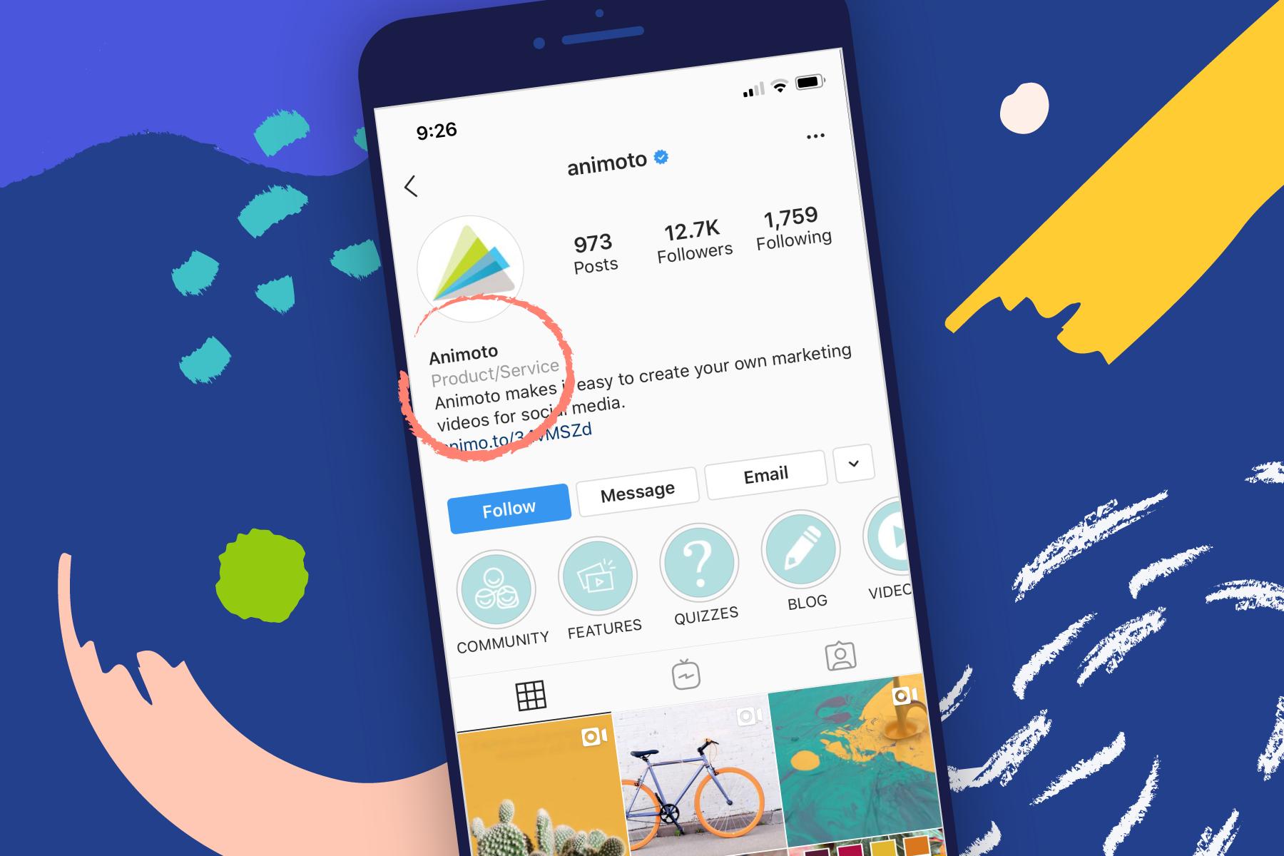 Instagram Business Categories List Tips Animoto