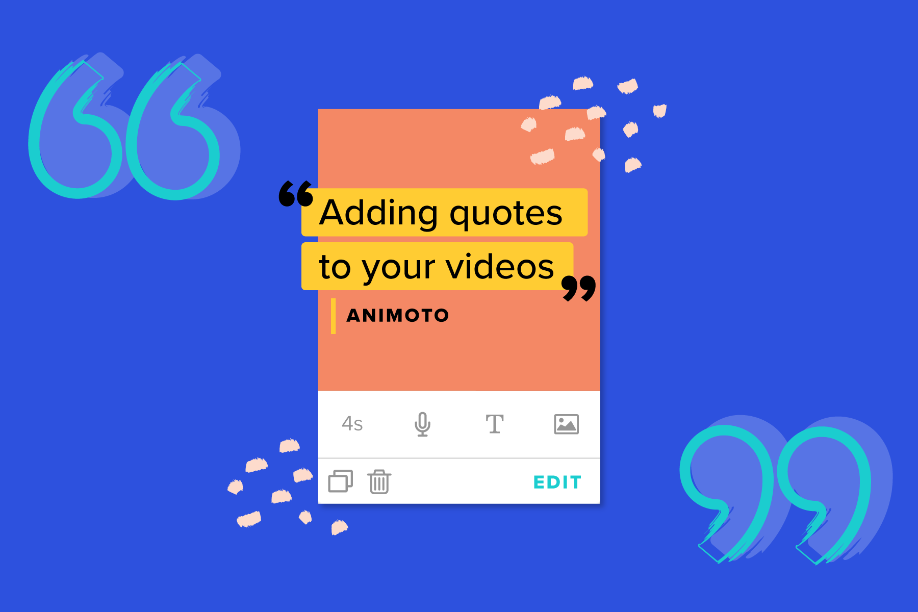 how to make a quote video animoto
