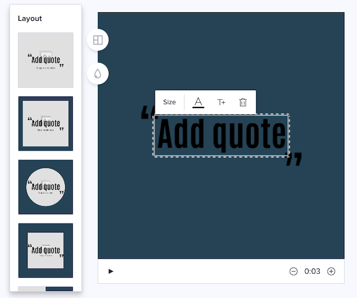 quote layout