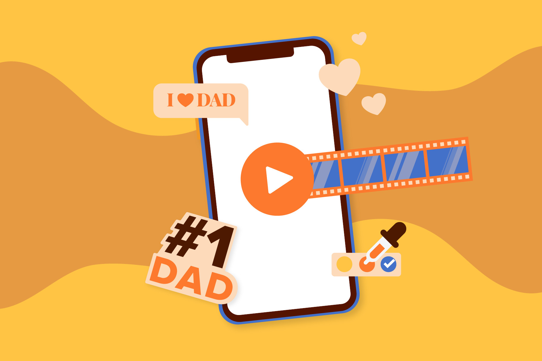 2021-05 Fathers-Day-Video-on-Smartphone Blog image