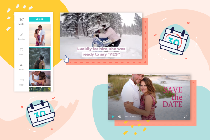 Customizable Save-the-Date Video Templates