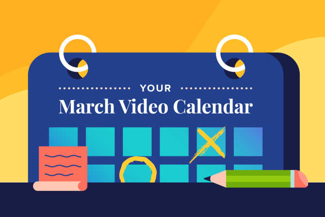 March Social Holidays to Celebrate with Video