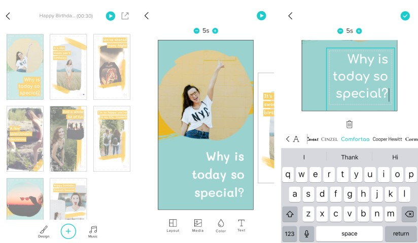 Change your Instagram Stories font in the Animoto app