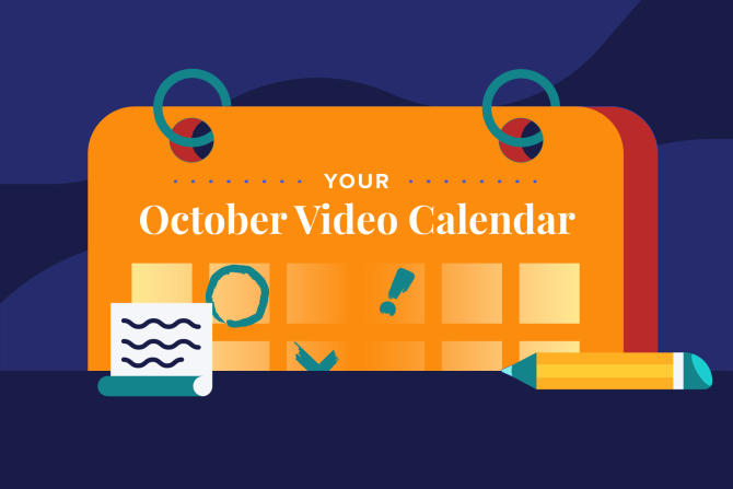 October Social Holidays to Celebrate with Video