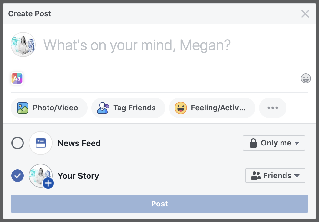 add-facebook-story-web-browser