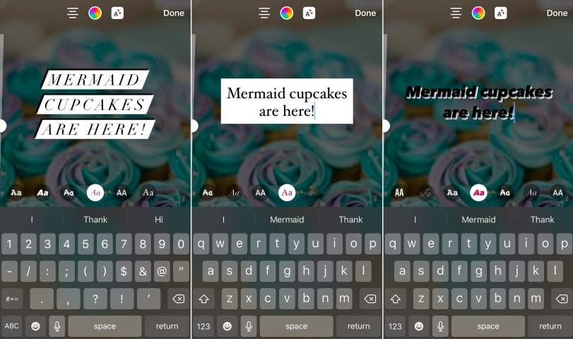 Changing a font in Instagram Stories