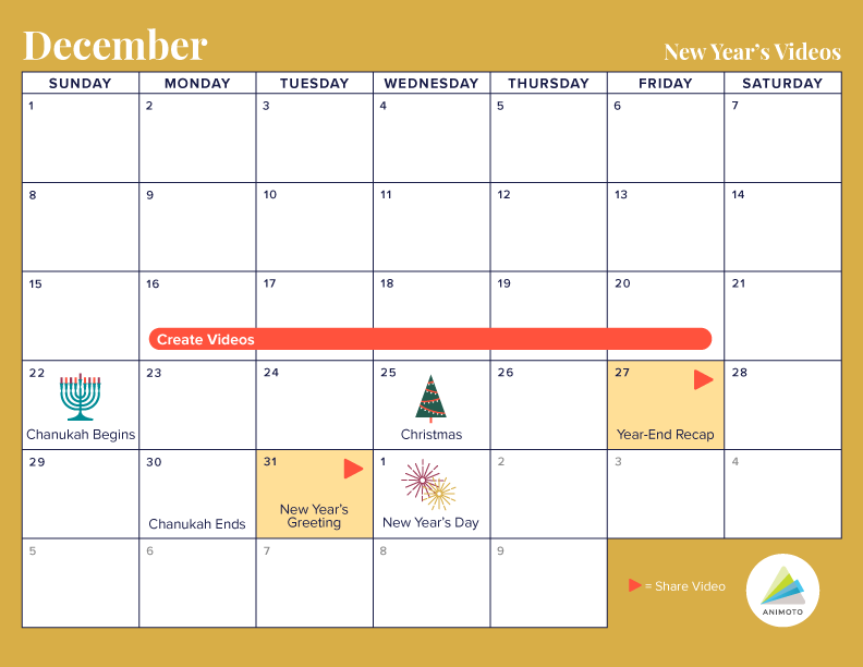 New Year Video Calendar