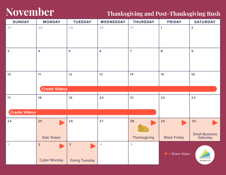 Thanksgiving and Cyber Week Holiday Calendar