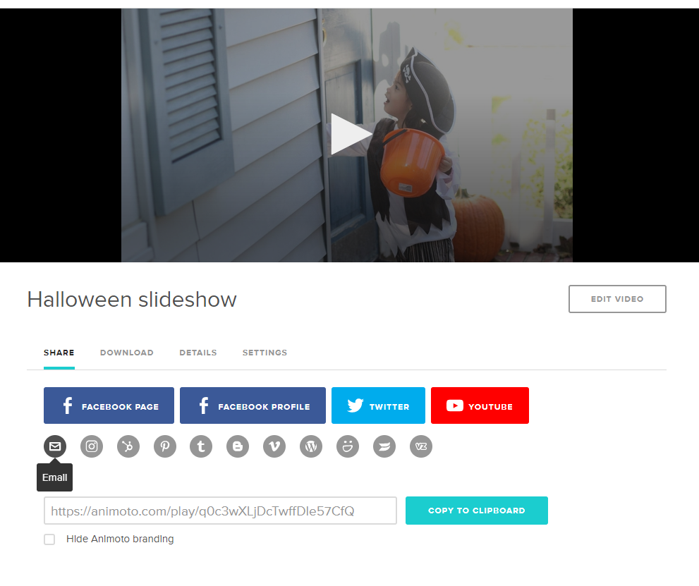 Share your Halloween slideshow