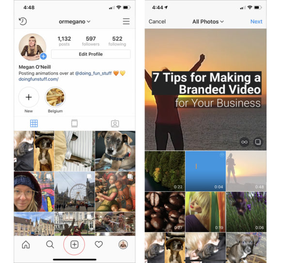 post-video-on-instagram