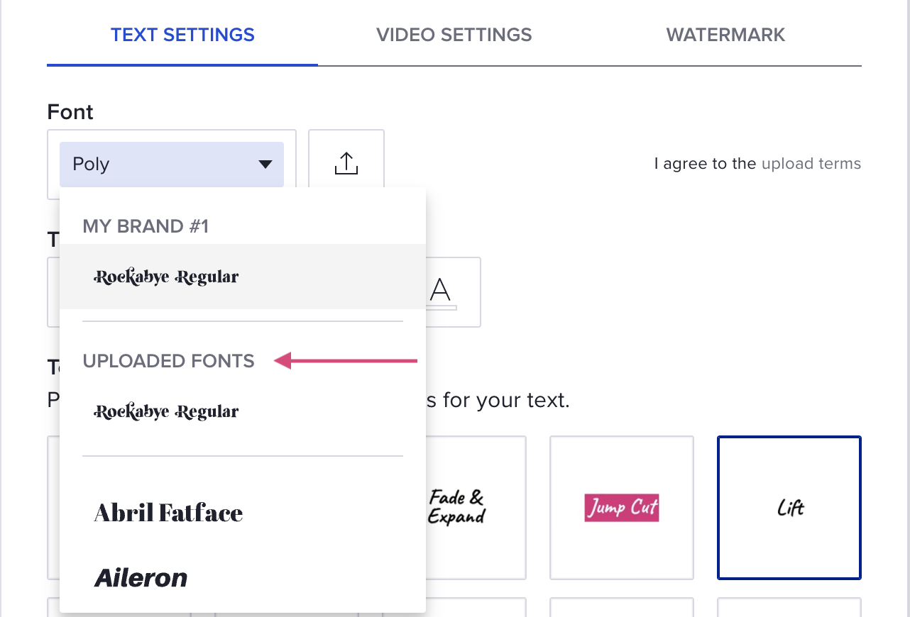 Step 5 apply your font, selector