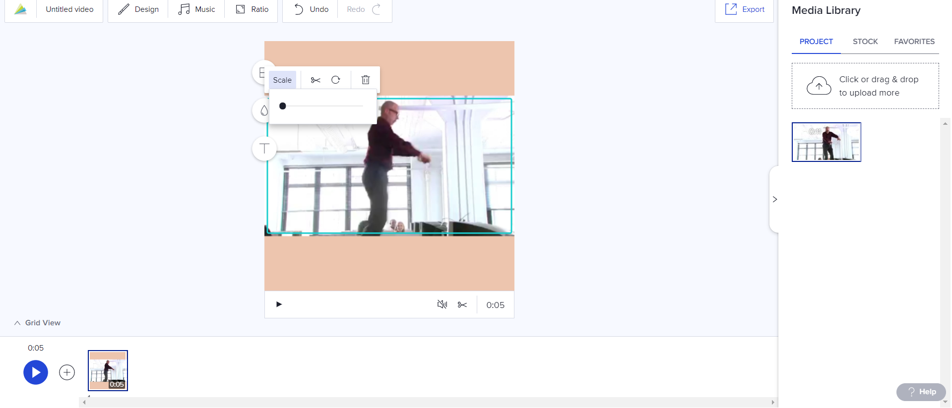 Adjust the size of your meme in Animoto