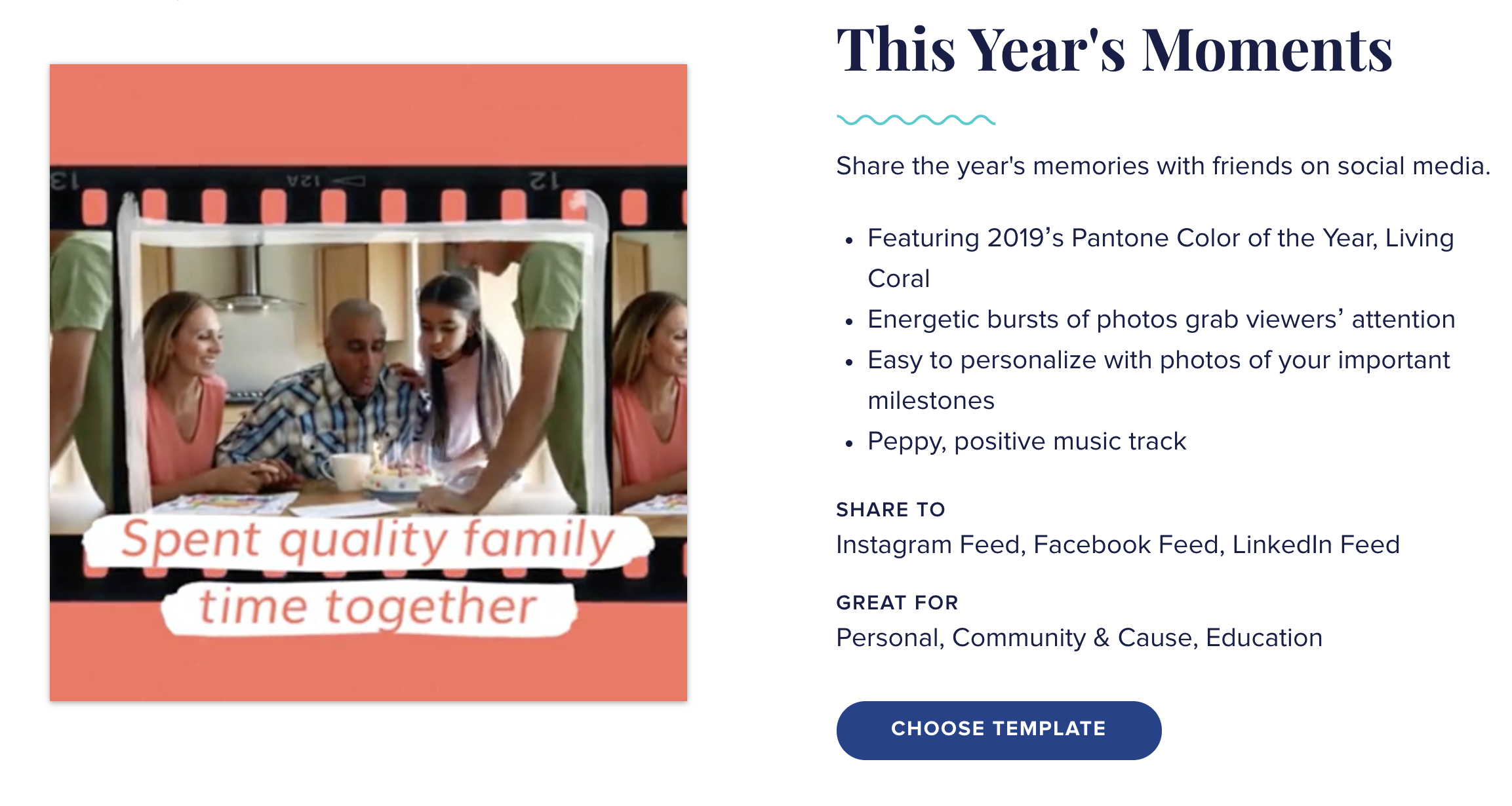 This Year's Moments Video Animoto Template