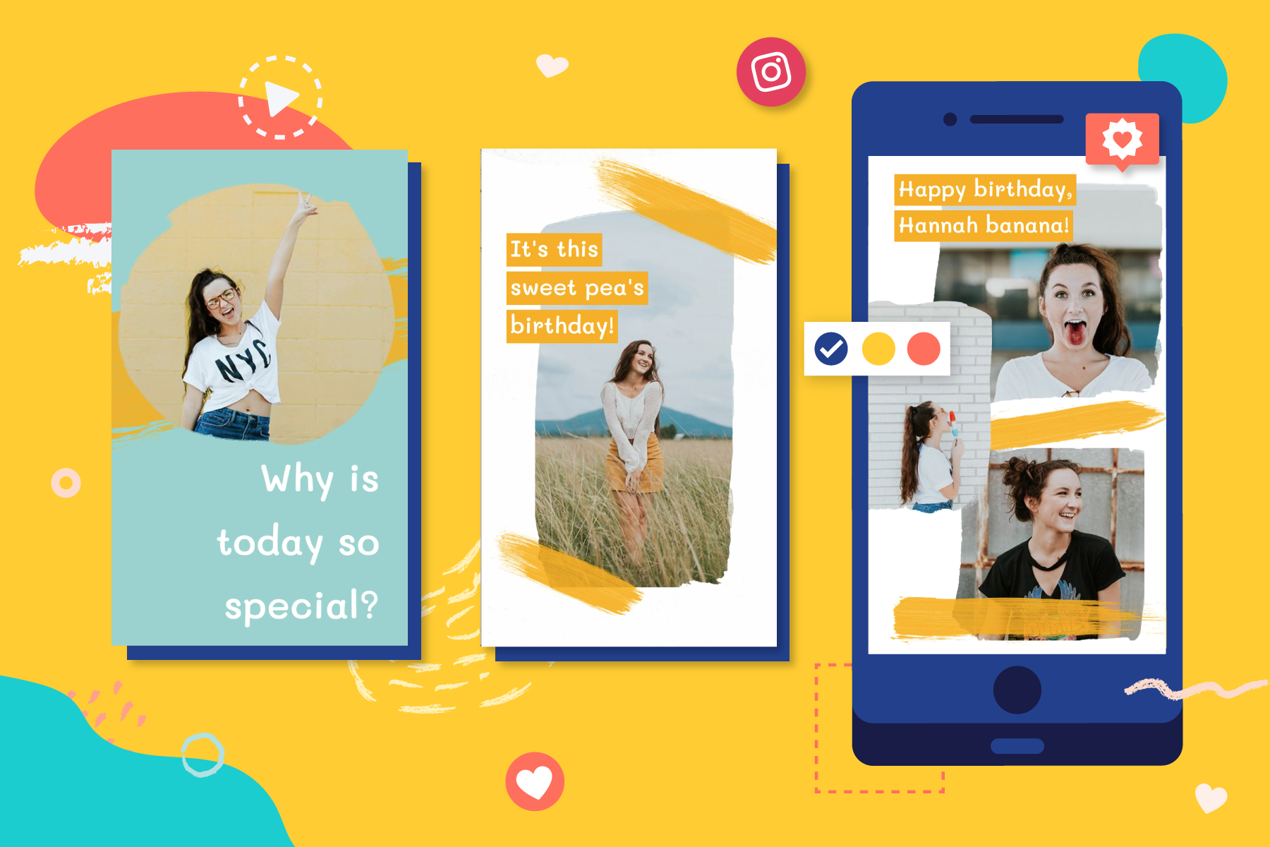 How to make a Happy Birthday Video for Instagram Stories   Animoto