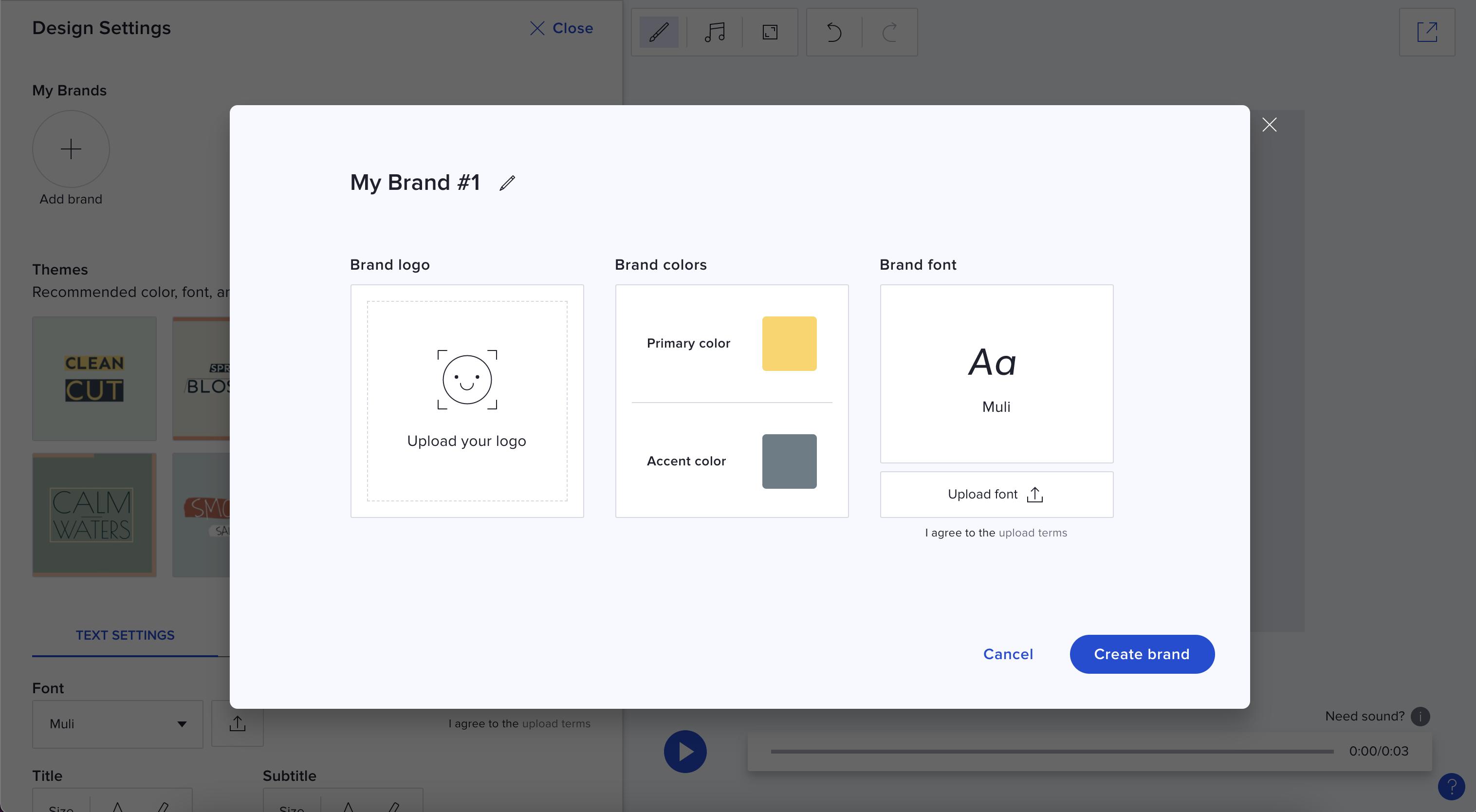 Step 2 Create Saved Brand Module Template