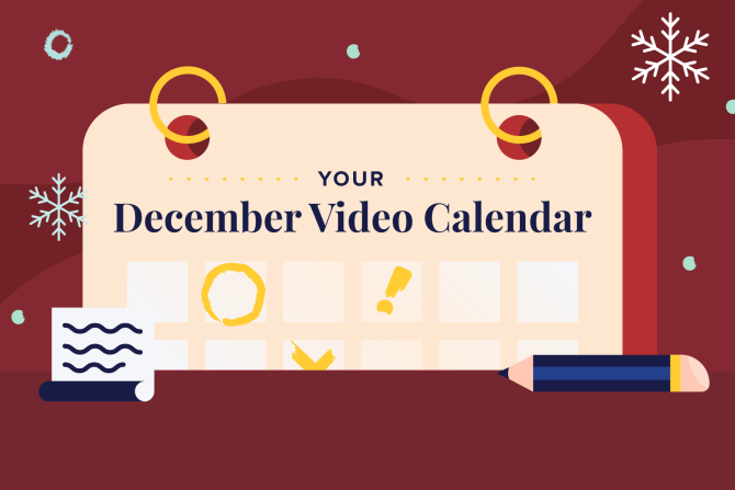 December Social Holidays to Celebrate with Video