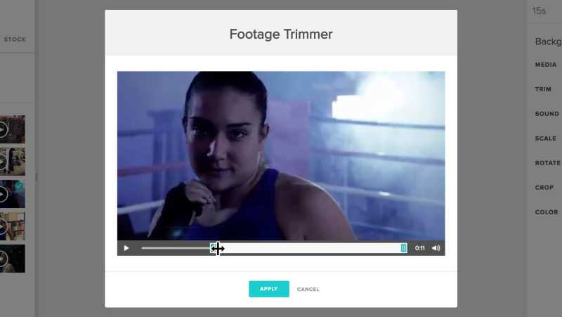 Trim your video clips and footage