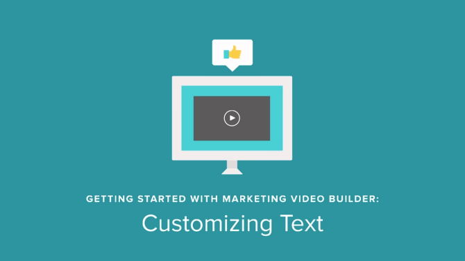 Marketing Video Builder Tutorial: Customizing Text