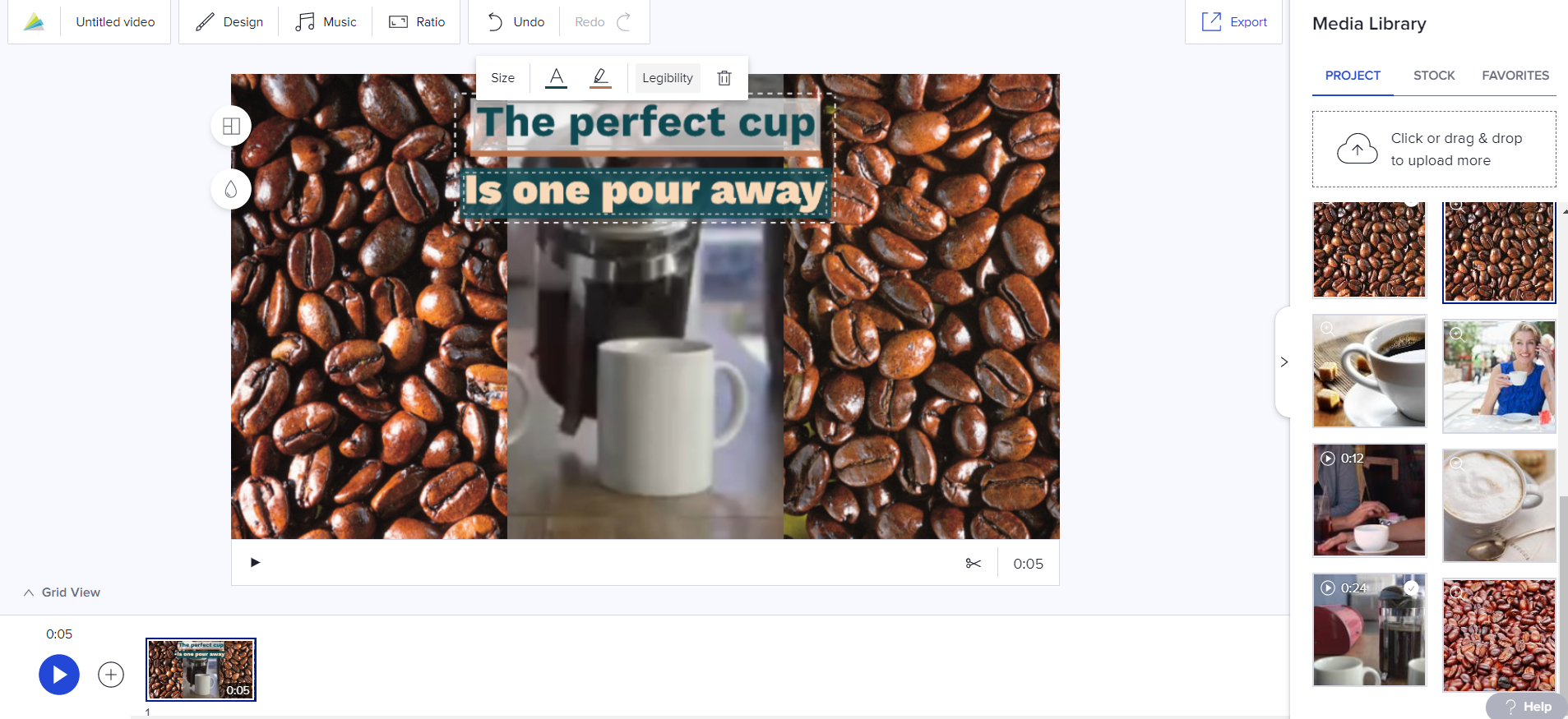 Make your words easier to read in Animoto