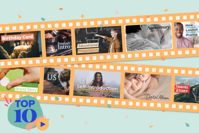 10 Most Popular Video Templates for Work and Life