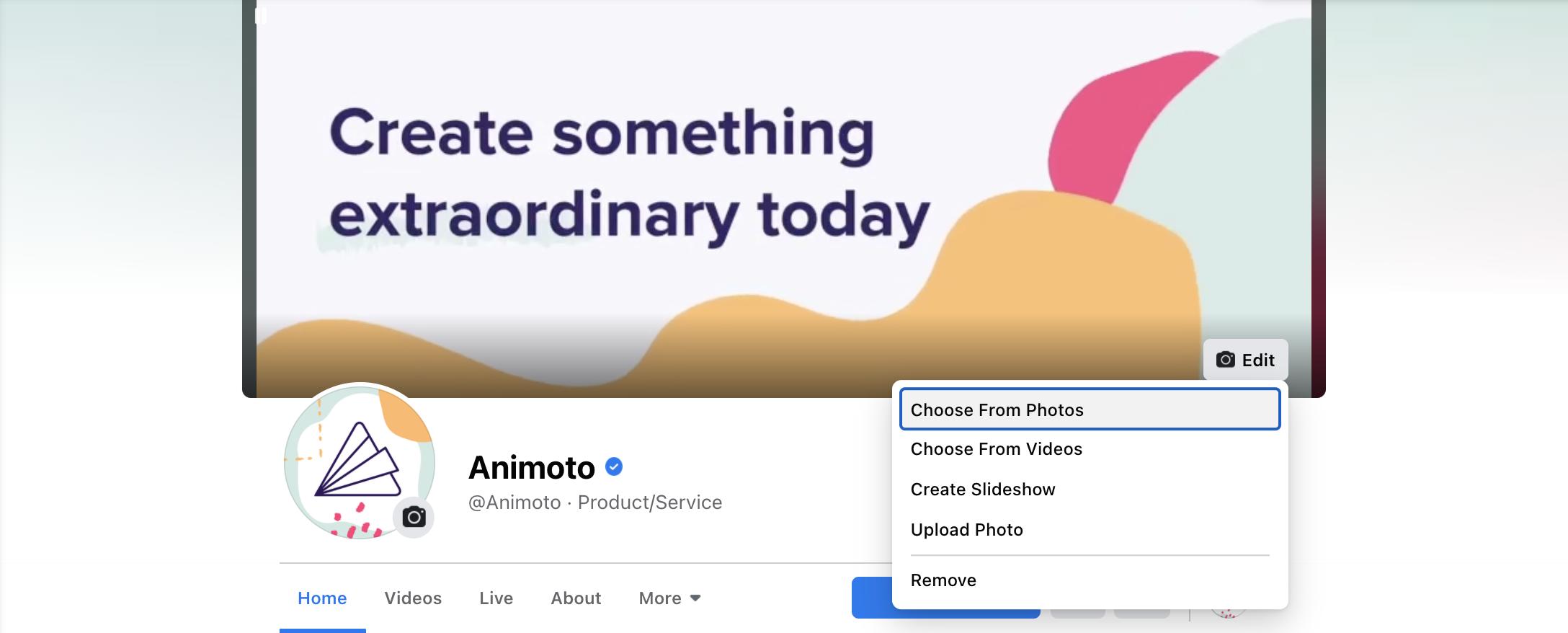 Facebook Cover Video Update