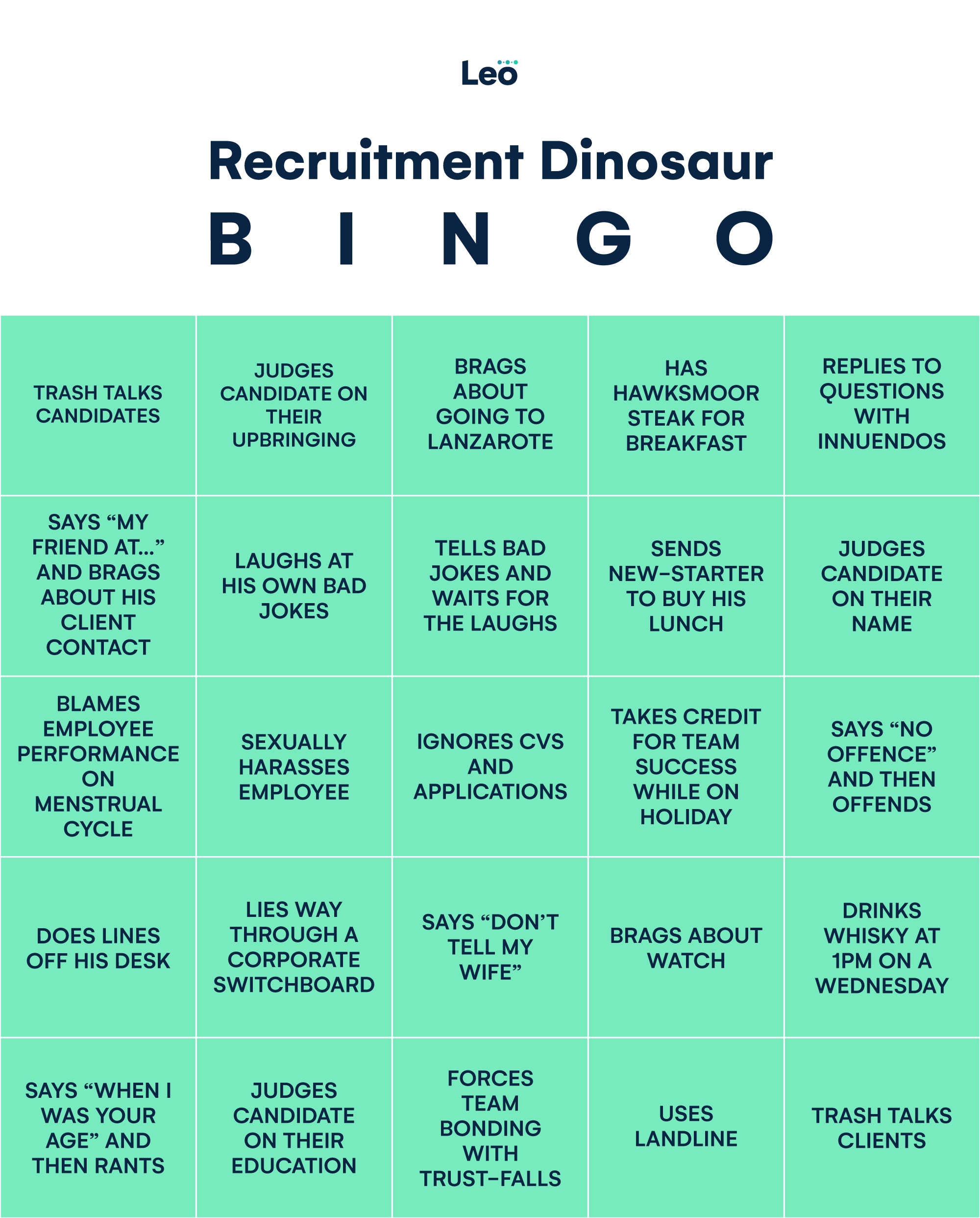 Recruitd Leo-Recruitment-Dinosaur-blog Bingo V0.2