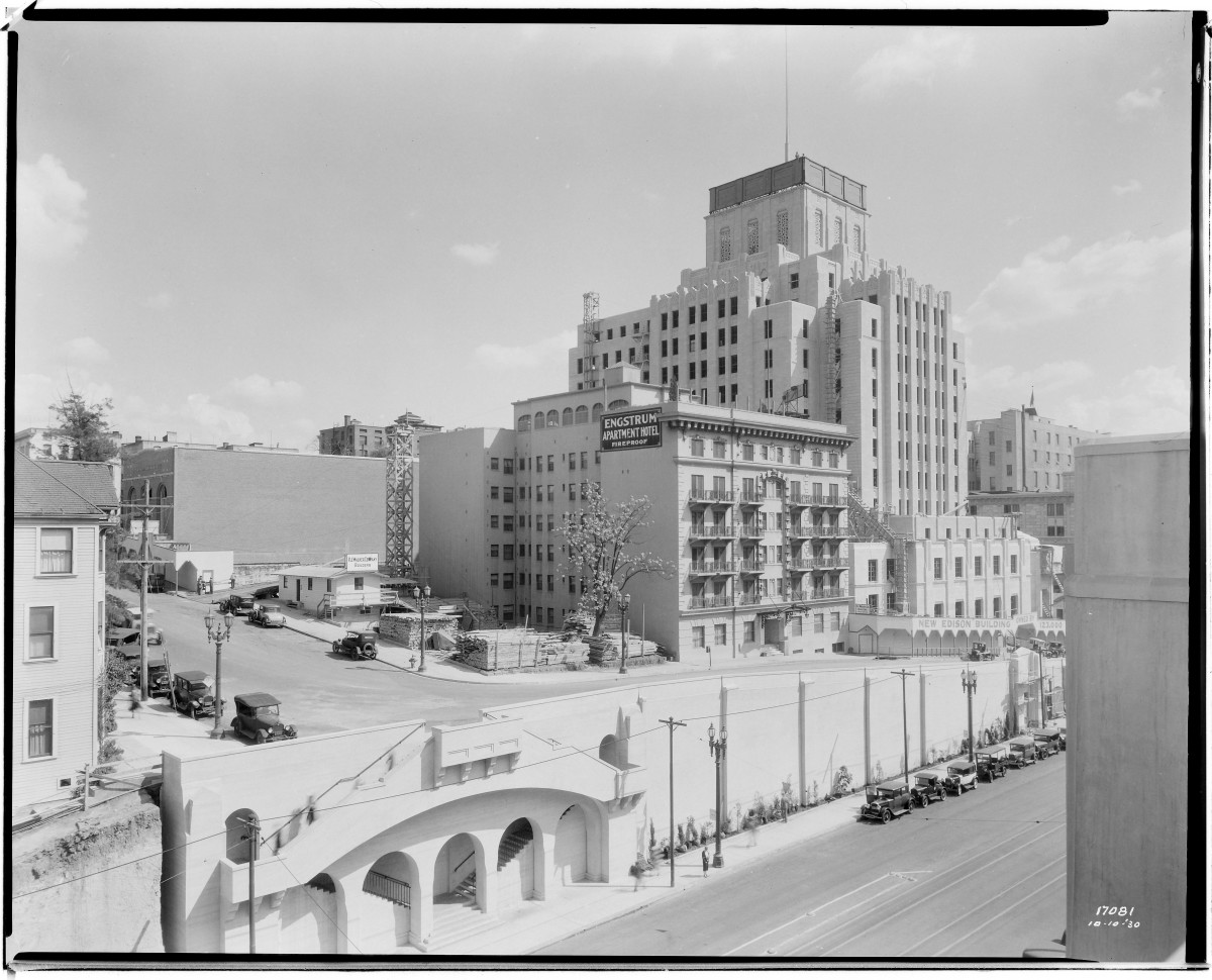 Located across from the Central Library in downtown Los Angeles, the Art Deco tower now known as The CalEdison DTLA has undergone an extensive set of improvements and technological upgrades as part of its conversion to creative office space. Our design team has led the redesign of the building's interiors across multiple phases and contracts with different tenants.