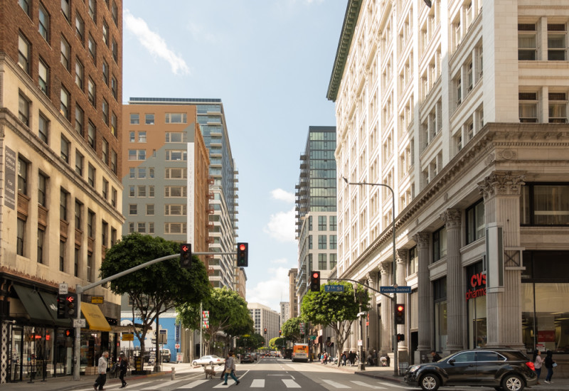 The roots of Omgivning are in downtown Los Angeles, where we're based. Since the beginning, our early goal has been to support the revitalization of DTLA. That process is now becoming a reality. People are flocking here to live, work and meet friends. As downtown grows, our firm's goals are steadily growing too.