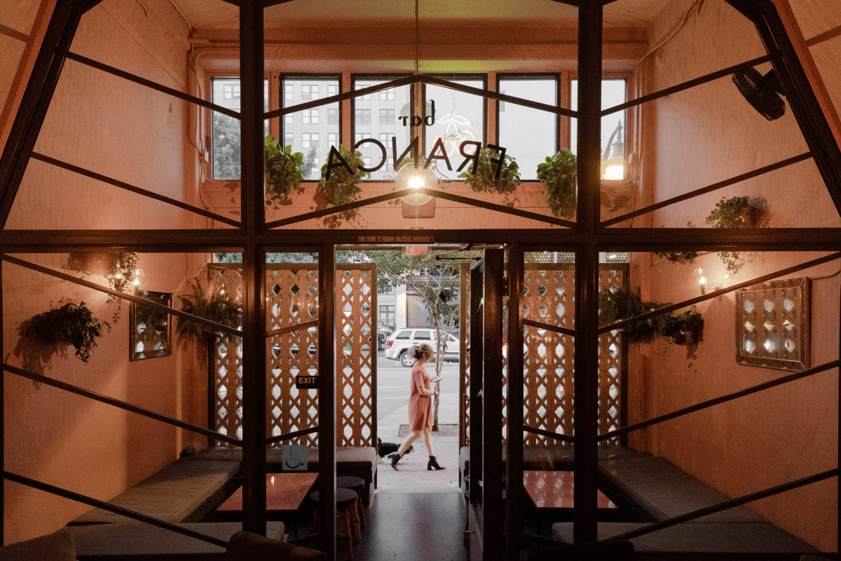 We worked with restaurateur and interior designer Rachel Thomas to create this 2,600 sf cocktail bar in downtown LA.   Located on an increasingly busy section of Main Street, the unreinforced masonry building was built in 1909 by Parkinson and Bergstrom Architects. The building originally served as the Canadian consulate and the space where the bar is now located once served as a vaudeville theater.  As architects, we executed Thomas' vision for this work, creating the space plan, designing the storefront and managing the permitting process, while Thomas directed the overall vibe, designed the interiors, and selected all of the finishes and furniture.