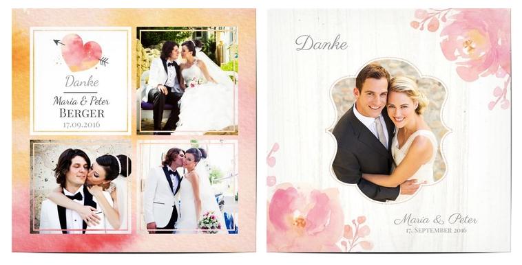 Danksagung Hochzeit: Texte & Ideen für Dankeskarten