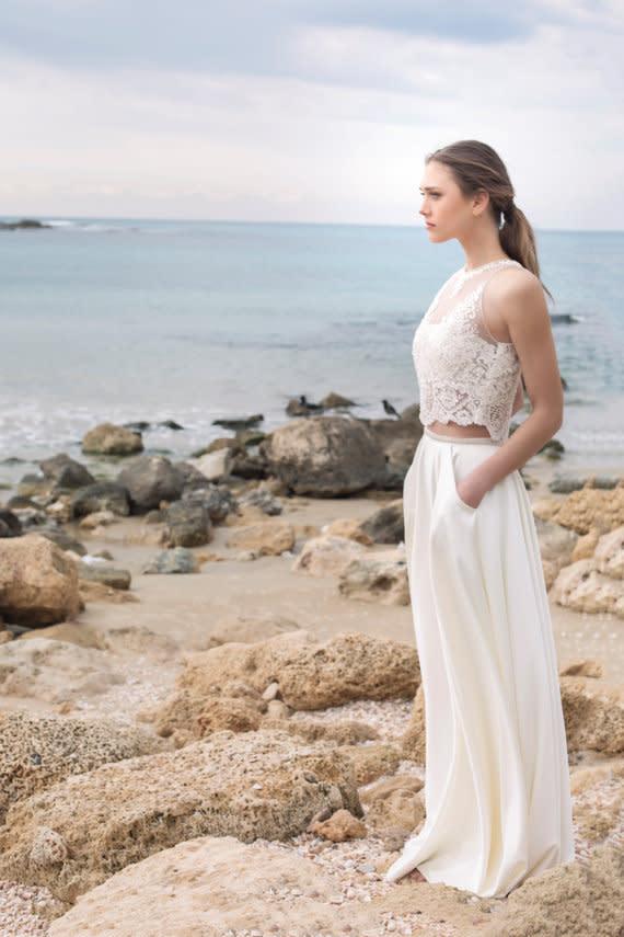 Rock Top Zweiteilige Brautkleider
