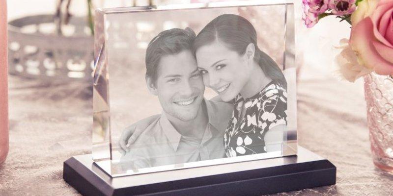 Foto In Glas Graviert Den Schonsten Moment Fur Die Ewigkeit Festhalten