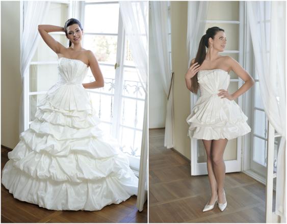 Brautkleid im 2 in 1 - Look