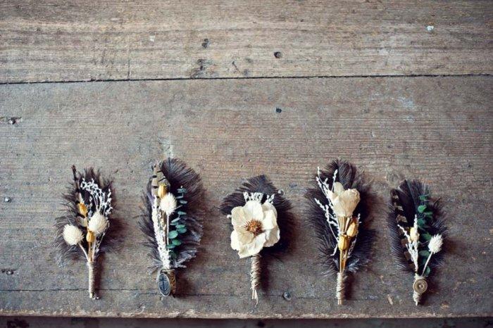 Boutonniere Ansteckblume Fur Den Brautigam