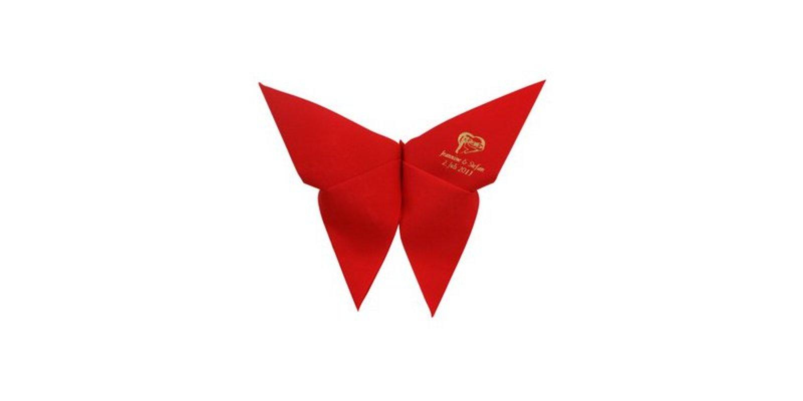 Gut gemocht Falttechniken für Servietten: Schmetterling HJ89
