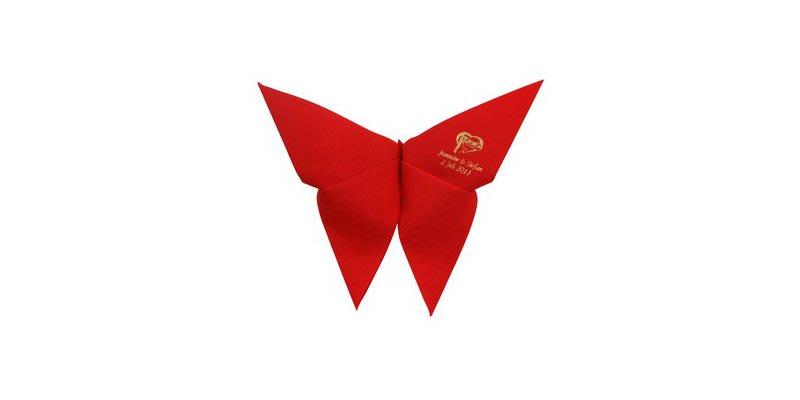 Falttechniken Für Servietten: Schmetterling