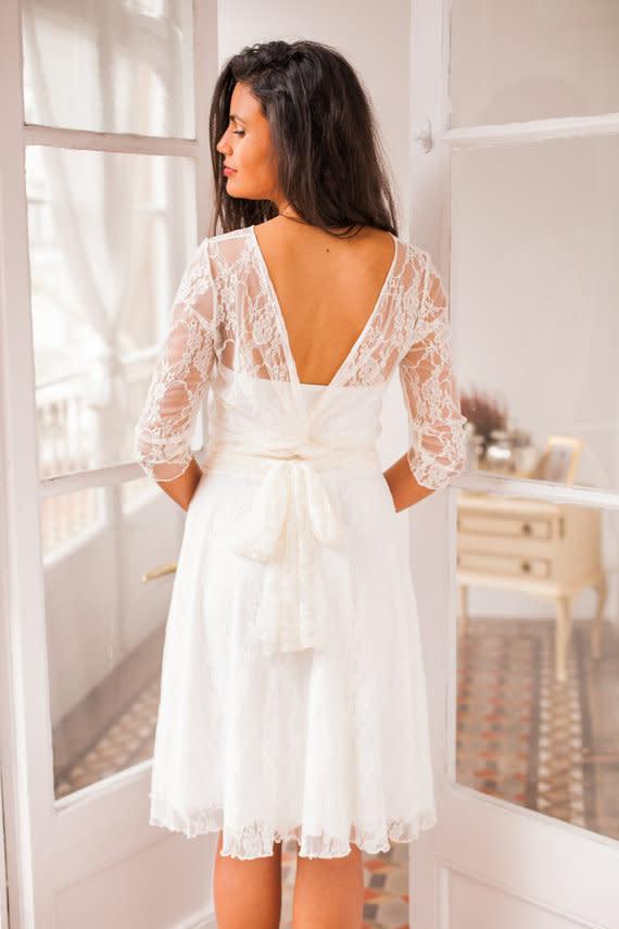 Einfache Brautkleider | Kurze Brautkleider