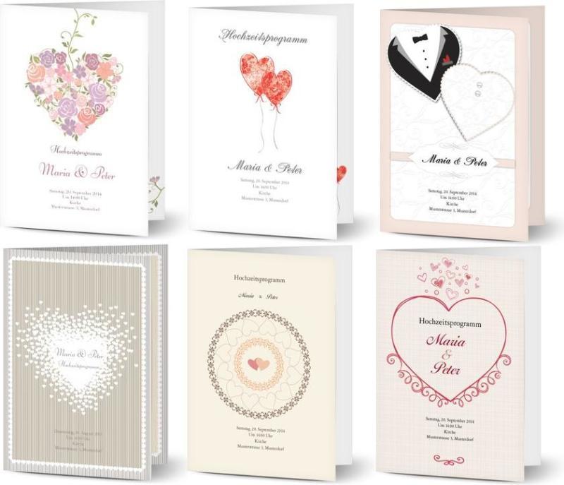 Kirchenheft Hochzeit Beispiele - Herz, Herz, Herz,…