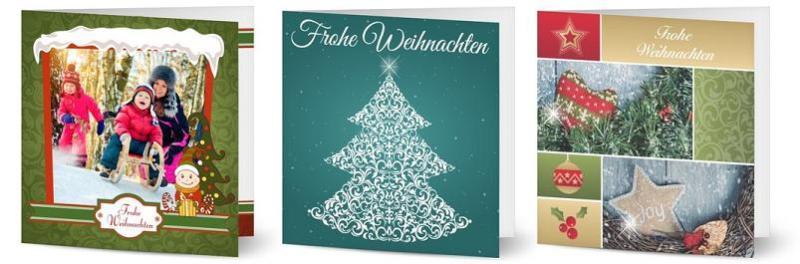 Schöne Weihnachtskarten gestalten