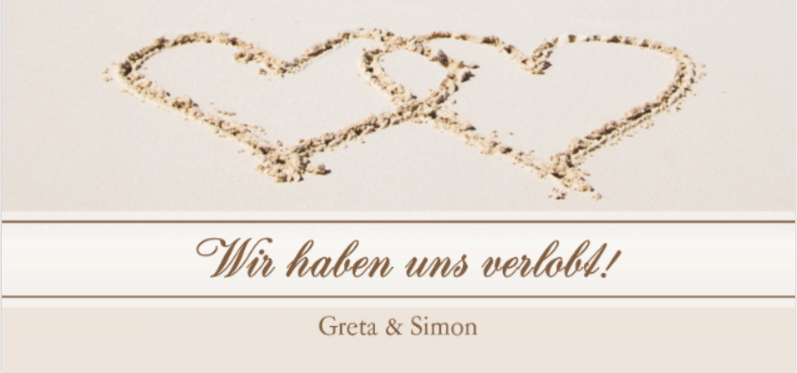 Verlobungssprüche - Wir haben uns verlobt