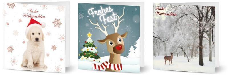 Weihnachtskarten Tiere.Schöne Weihnachtskarten Gestalten