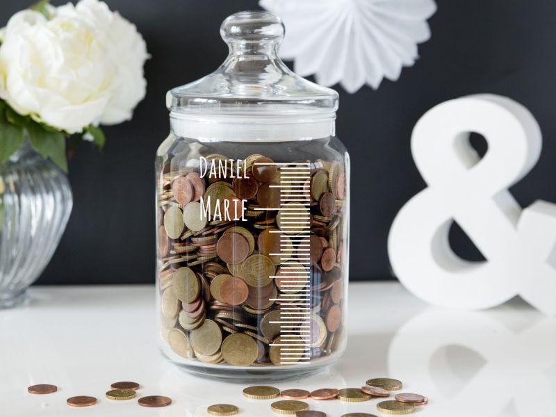 Das Keksglas Als Hochzeitsgeschenk Mit Personlicher Gravur