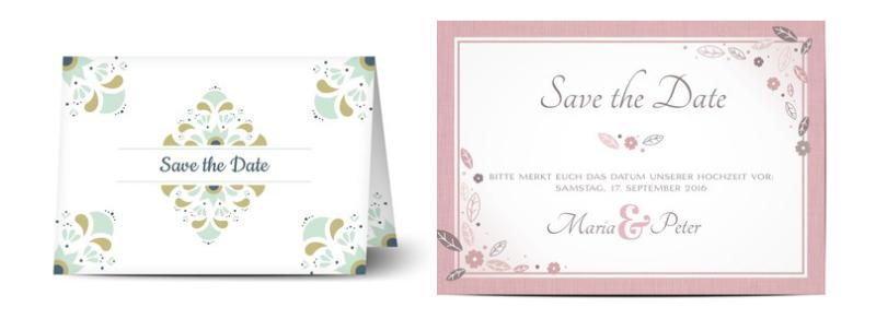 Auch Mehrzeiler machen sich gut auf Ihren Save-the-Date Karten