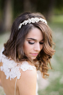 Braut haarschmuck offene haare  Brautfrisuren