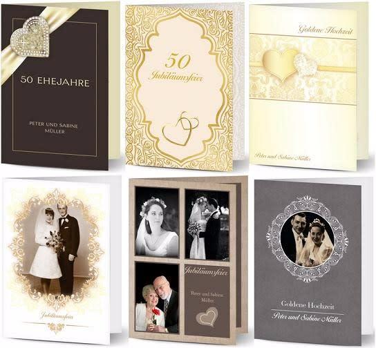 Einladungen Zur Goldene Hochzeit