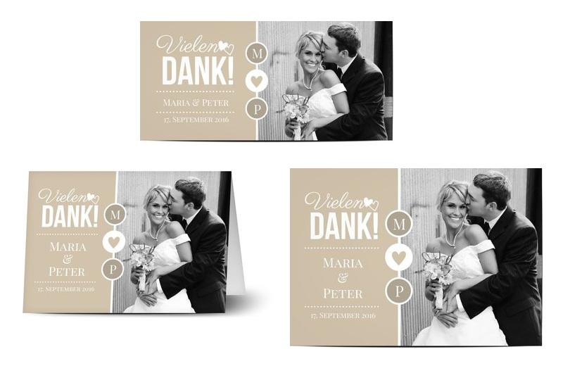 Danksagung zur Hochzeit mit Bild und Mustertext