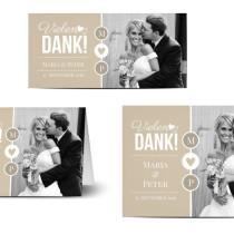 Danksagung Hochzeit Moderne Danksagungskarte Mit Foto Hochzeitsplaza Kartenshop