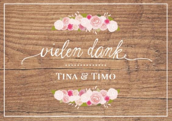 Hochzeitskarten - Dankeskarte zur Hochzeit